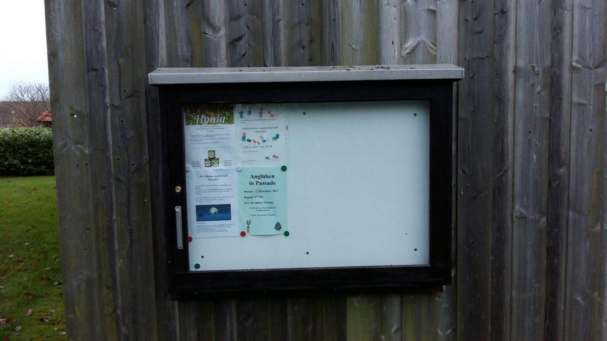 Gemeindepost im Schaukasten